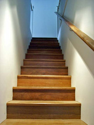 timber concealed string staircase in sydney image