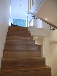 concealed string timber stairs in Sydney image