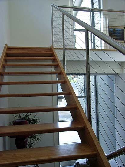 sydney timber stairs and stainless steel balustrades image
