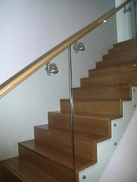 sydney based timber stairs and glass balustrade image