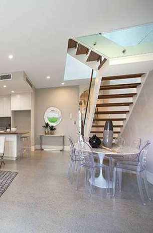 Floating staircase design by Budget Stairs