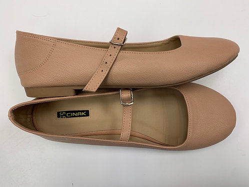 NEW Cinak Leather Flats Youth Girl sz 5.5