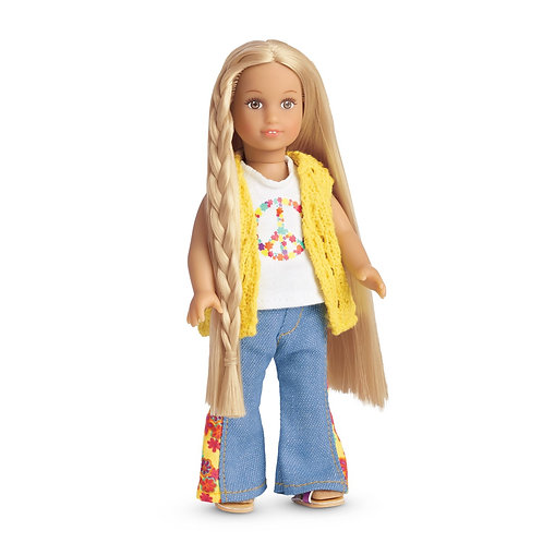 NEW American Girl Mini Julie Doll & Book Set
