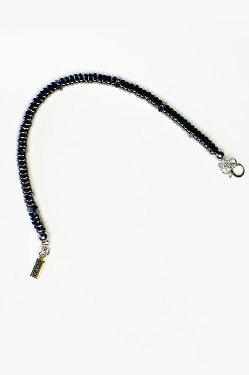 Oblong Bead Bracelet - Gunmetal