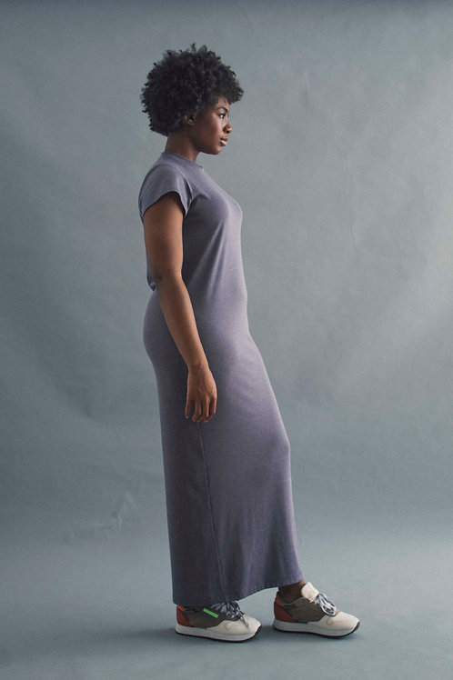 TEE DRESS - FRENCH GREY RIB