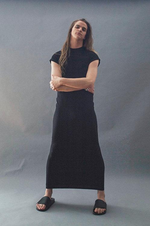 TEE DRESS - BLACK JERSEY