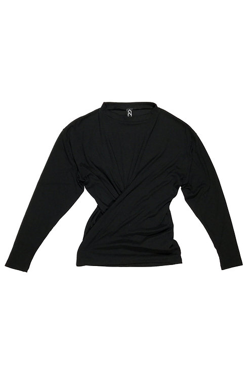 LS TWIST TEE - BLACK