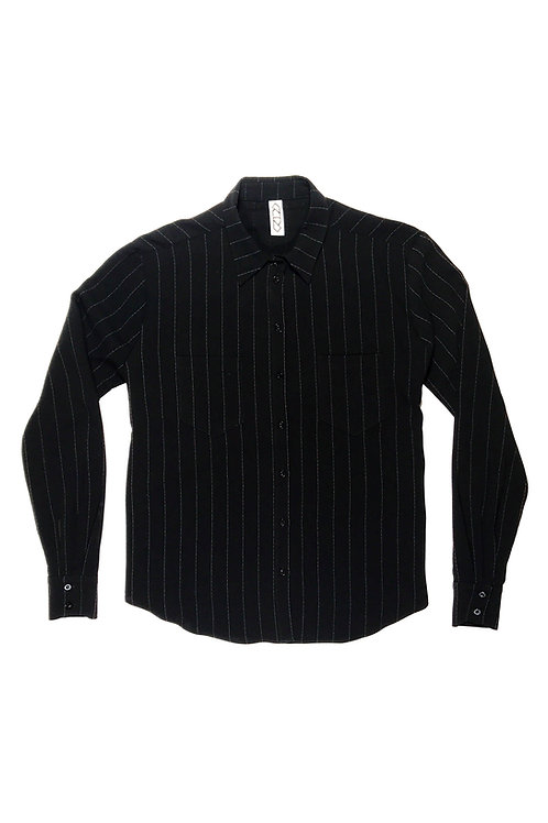 OPEN BACK SHIRT - PINSTRIPE