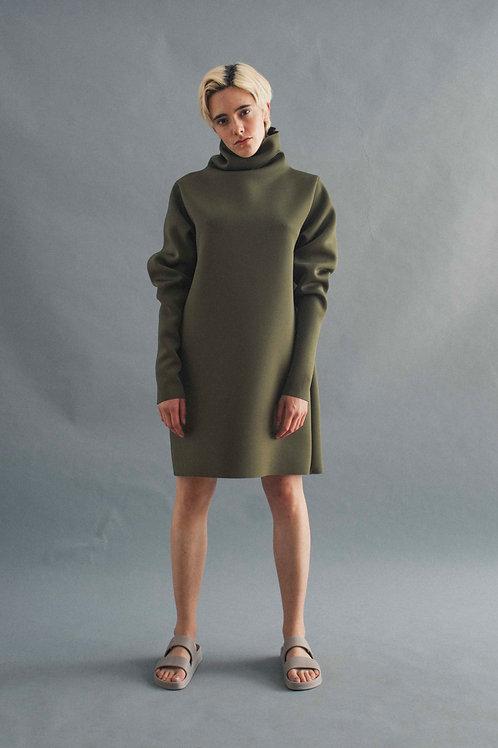 NEOPRENE GOOD-M DRESS - OLIVE
