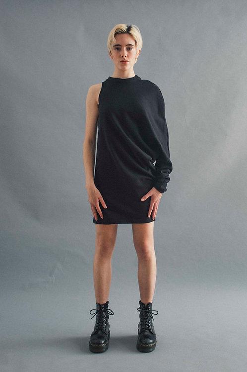 OS TERRY DRESS - BLACK