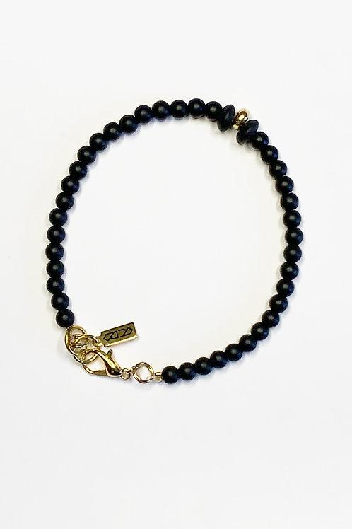 Beaded Clasp Bracelet - Black