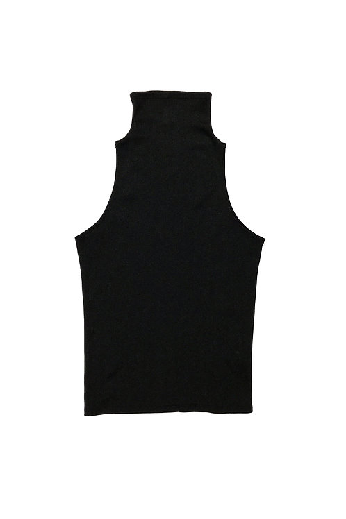 HIGH NECK TANK - BLACK