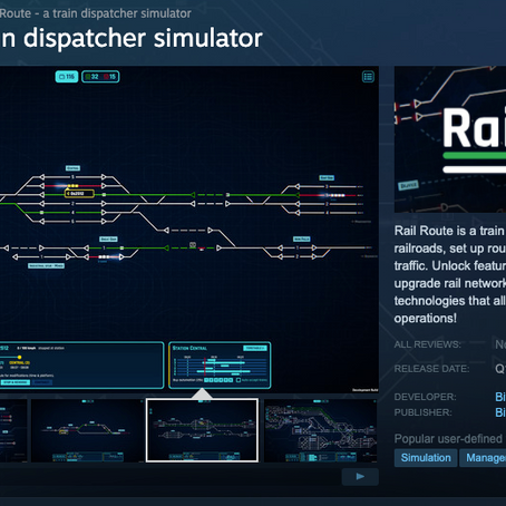 "Wishlist ""Rail Route"" on Steam now!"