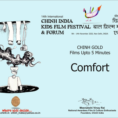 """Comfort"" Awarded Gold at the Chinh India Kids Film Festival"