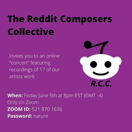 """Twilight's Shade"" featuring in The Reddit Composers Collective Online Concert"