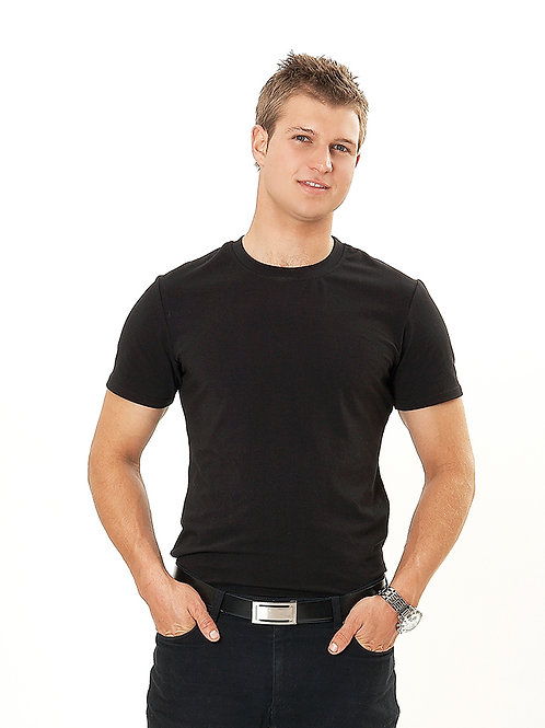 Men's Round Neck Tee Shirt Bleach Resistant