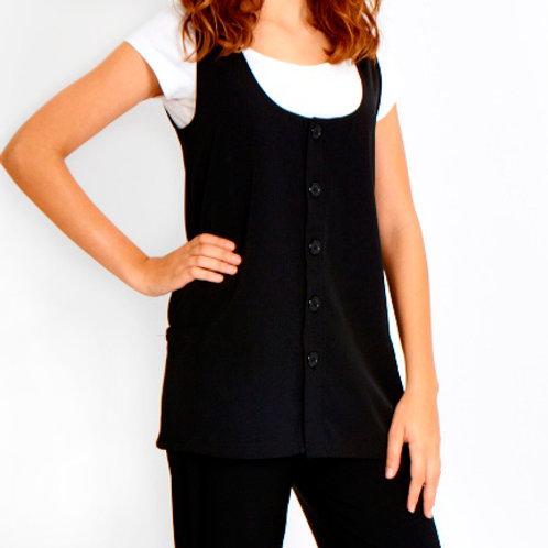 Button Vest Bleach Resistant