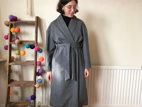 A lined wrap coat for winter (Burda 6704)