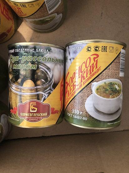 Суп-рассольник с мясом