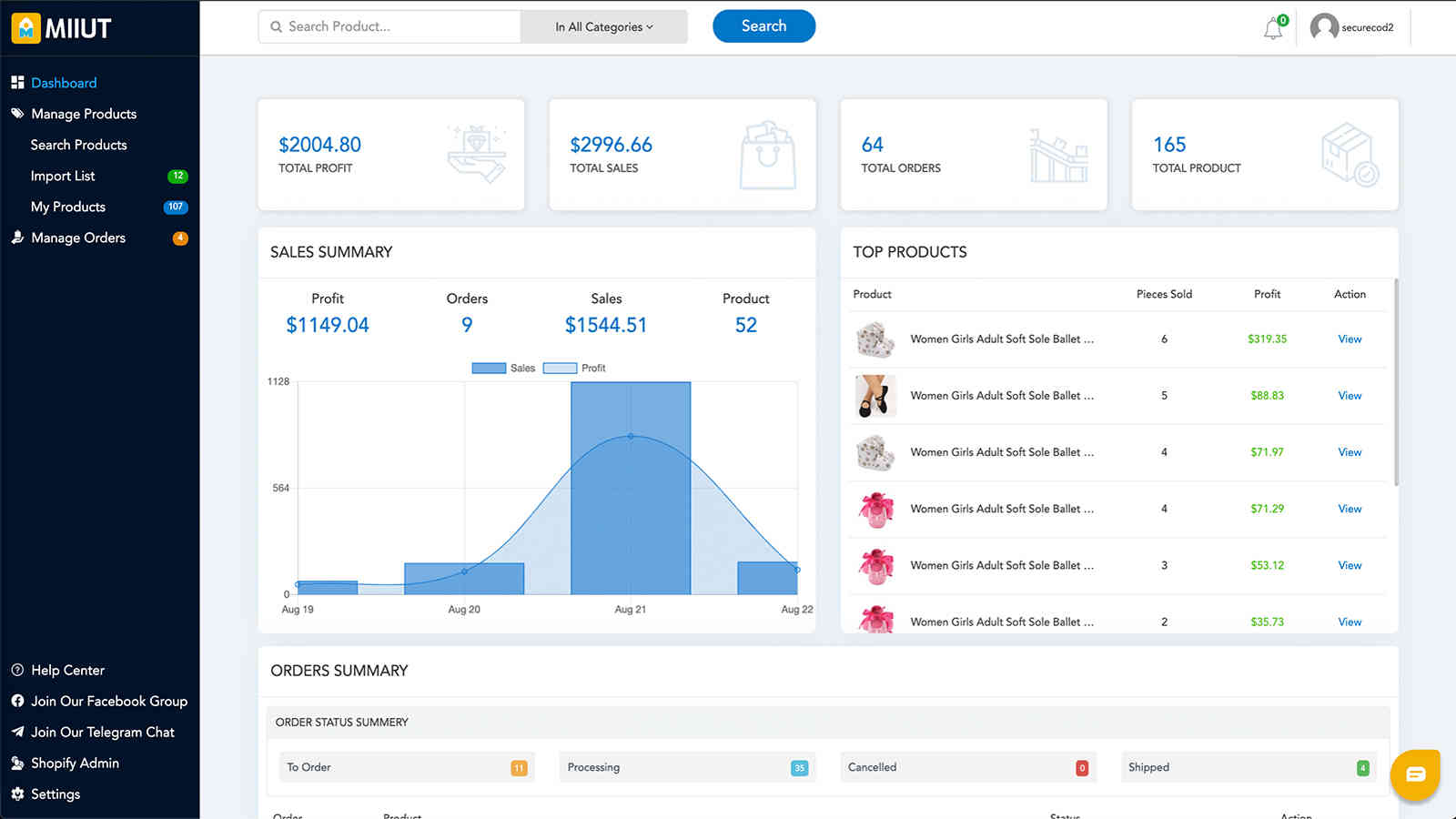 Track your business growth