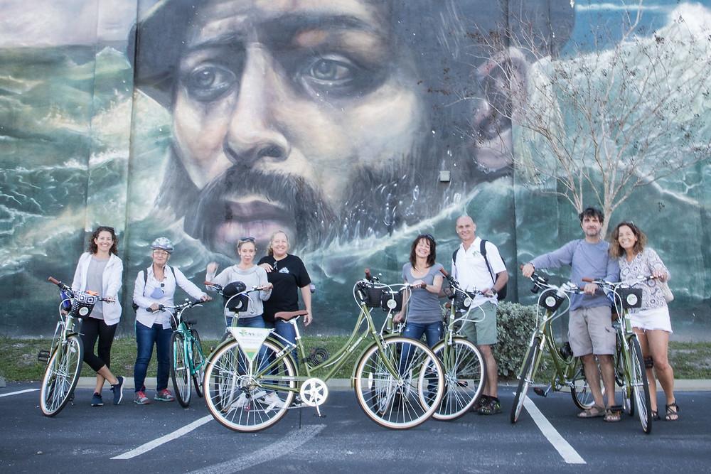 st pete biking tour art mural