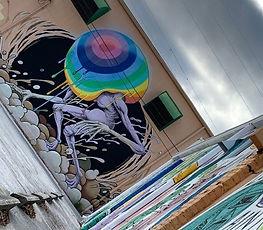 Art mural in St. Petersburg