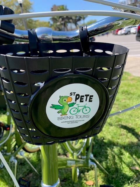 St Pete Biking Tours logo with parrot
