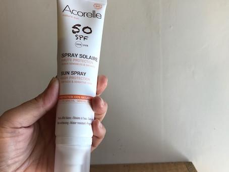 石鹸でオフできるオーガニック日焼け止め【Acorelle】サンプロテクション50