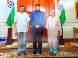 With President of India