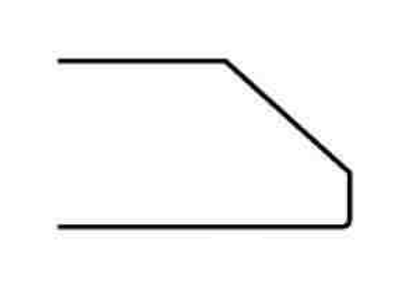 1-inch Bevel Edge