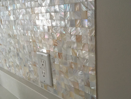 Natural Shell Mosaic for kitchen Backsplash
