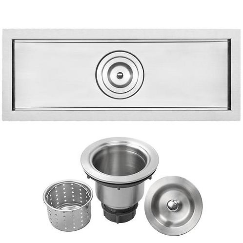 "22"" Ticor E0003R Bradford Series 16-Gauge Stainless Steel Undermount Kitchen"