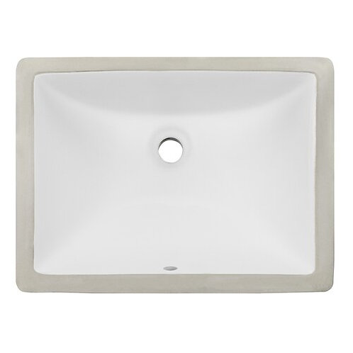 "18"" Ticor E10 Belfast Series Ceramic Undermount Rectangular Vanity Sink"