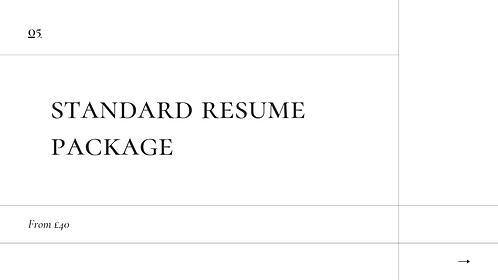 Standard Resume Package