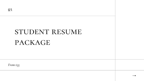 Student Resume Package