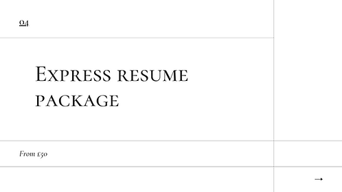 Express Resume Package