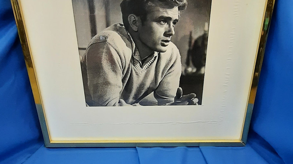 Black and White Picture of James Dean Framed