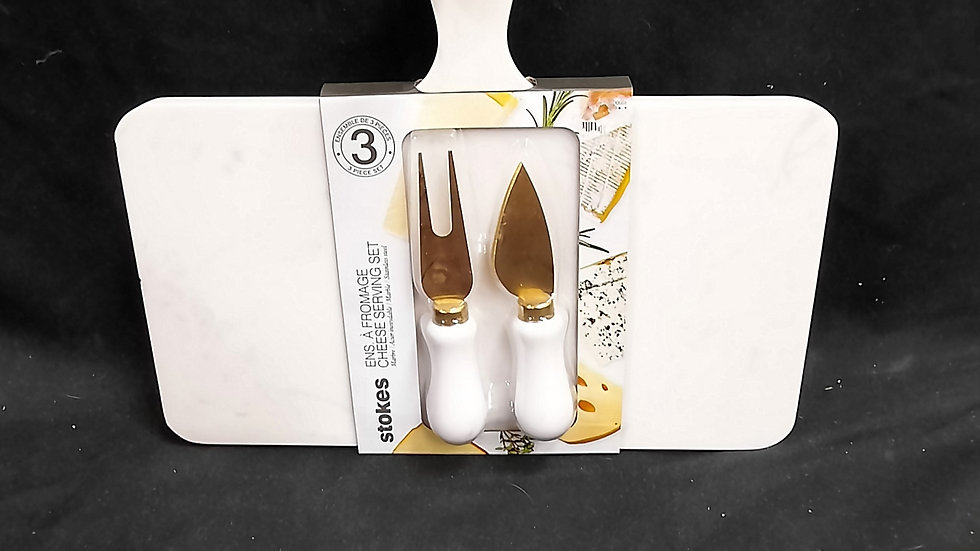 Stokes Marble Cheese Board and Knife Set