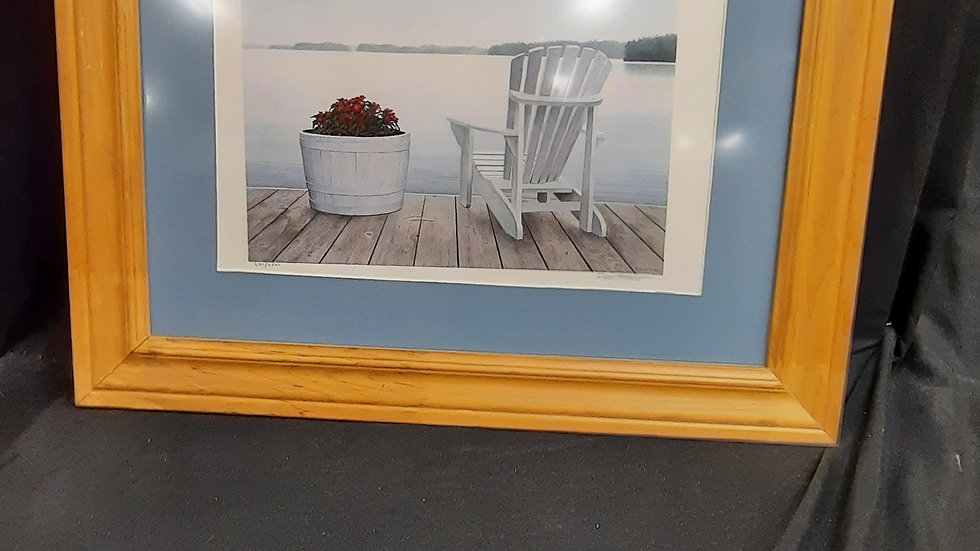 Chair on a dock print