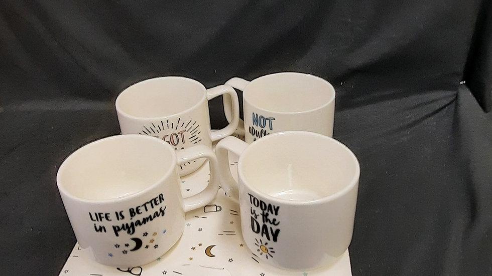 Set of 4 Mugs with Sayings on them