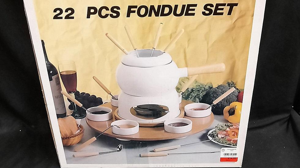 22pc. Fondue set