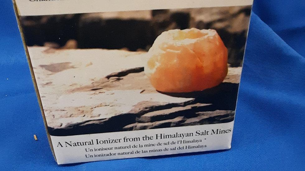 Salt Crystal Candle Holder