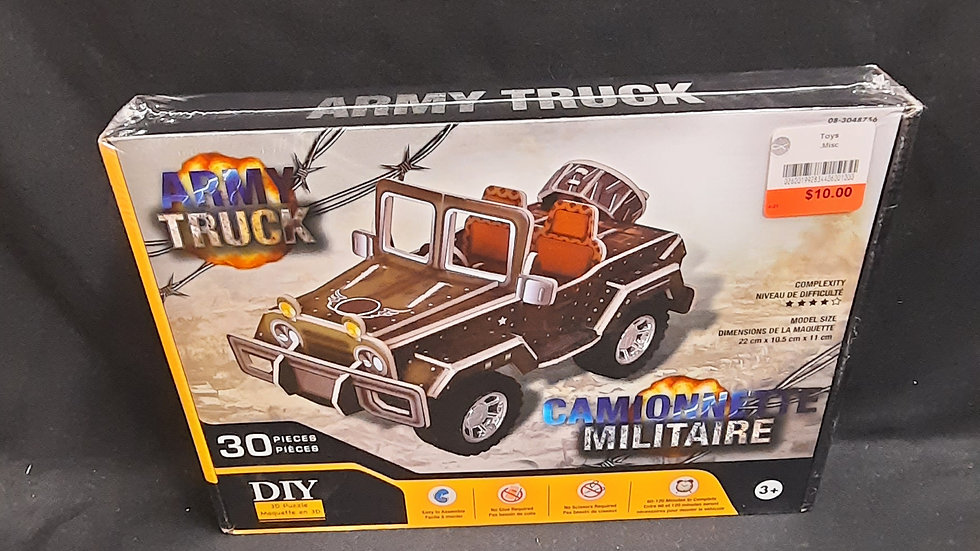Build your own army truck never opened