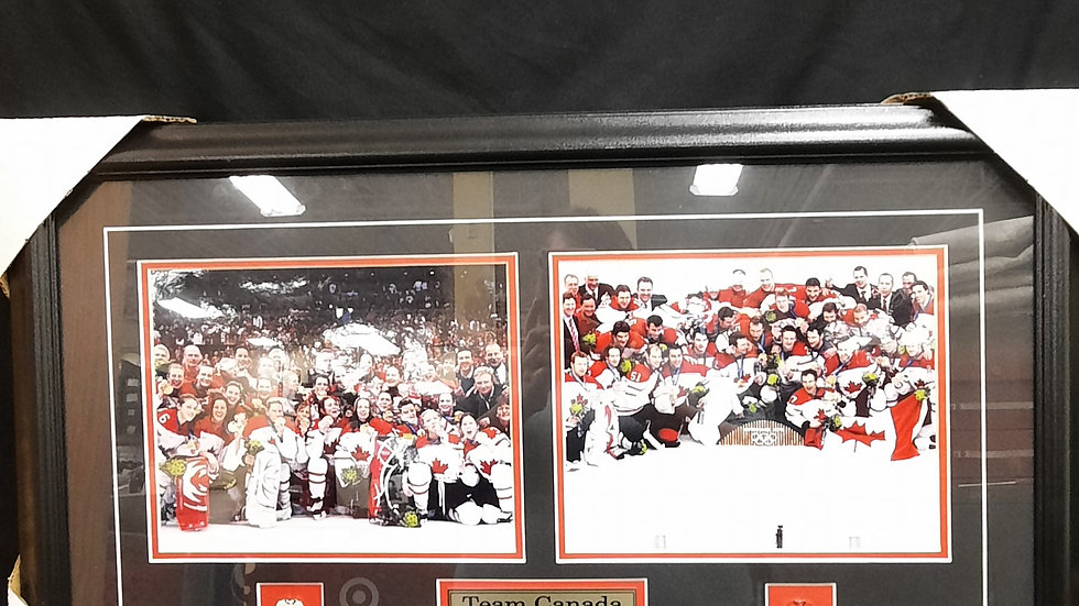 Team Canada Double Gold Medalists Vancouver 2010 Olympic Champions frame