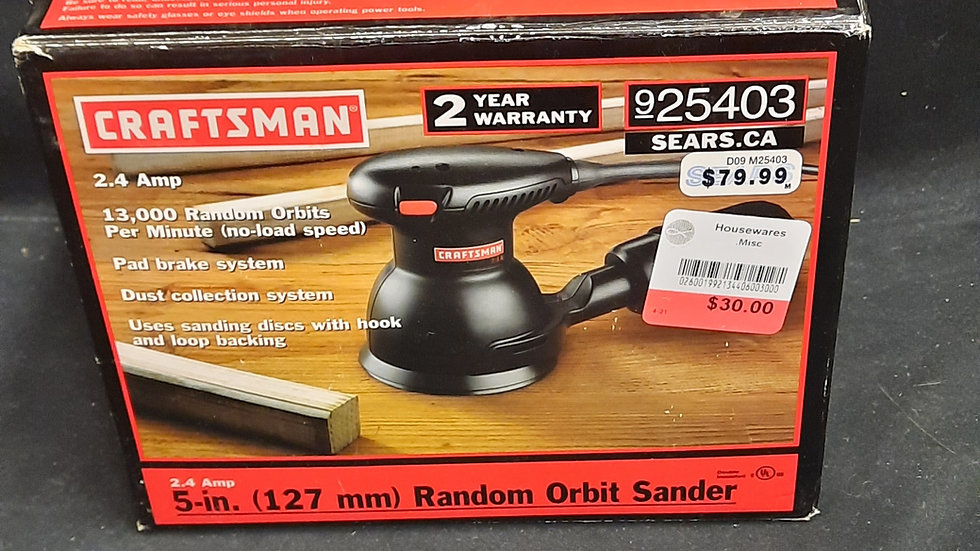 Craftsman 5 in. Palm sander