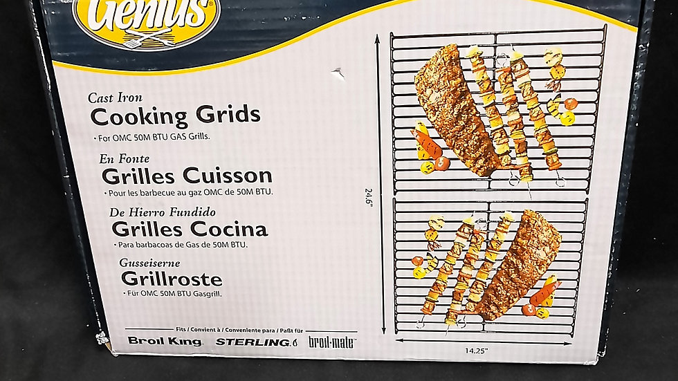"""Cooking grids for gas barbecue 24.6""""x14.25"""""""