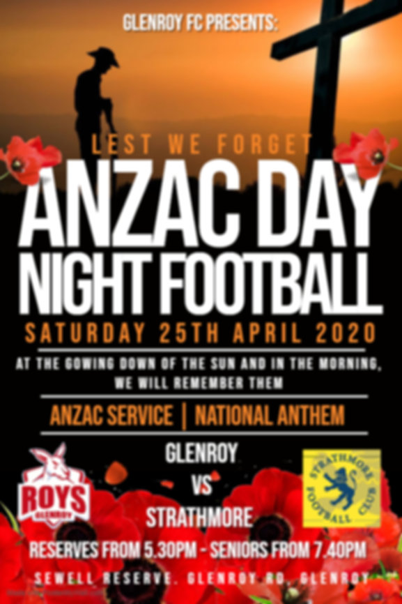 Anzac Day Night Footy