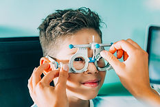 Child having an eye exam