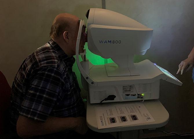 Eye Exam using WAM800