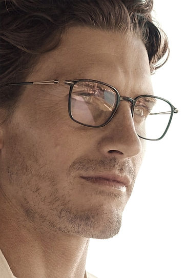 Man with desinger glasses